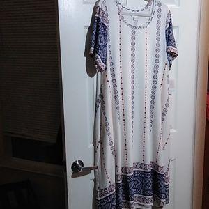 NWT LULAROE 3X DRESS W/ POCKET DRESS JESSIE DIPPED